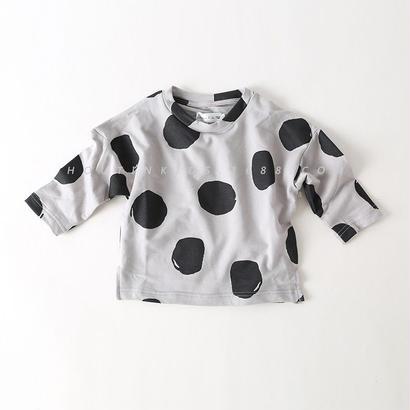 (新作♥)(KIDS-)bigドット柄ロングtシャツ