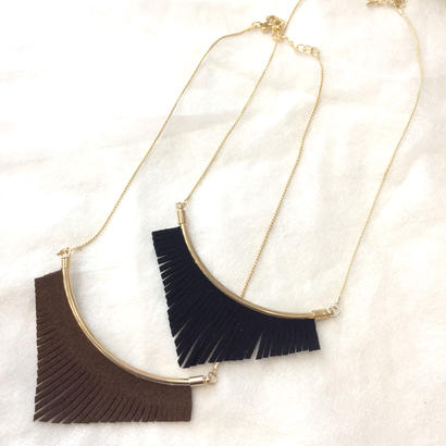suede fringe necklace