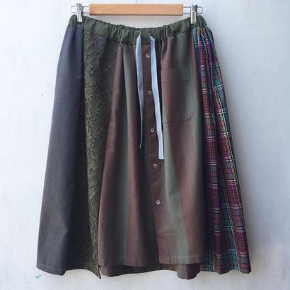 リメイク合体フレアスカート