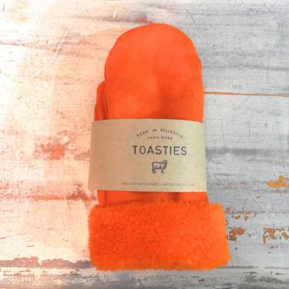 ムートンミトングローブ/Fサイズ/オレンジ