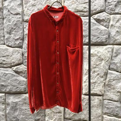SPOLOGUM ベロアレッド/メンズシャツ