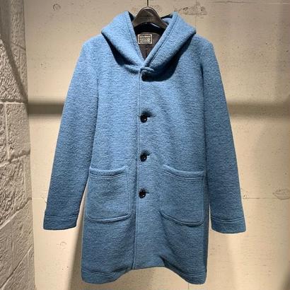 【Custom Culture】スライバーフーデットコート ブルー