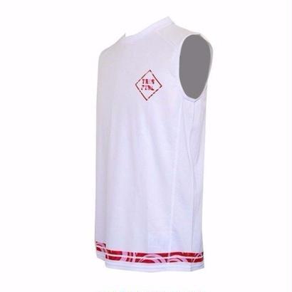 トレーニングシャツ(ノースリーブ)ホワイト/マーブル(レッド)