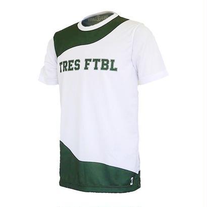 プラクティスシャツ(ola)ホワイト/グリーン