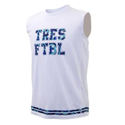 トレーニングシャツ(ノースリーブ)ホワイト/マーブル(ディープブルー)