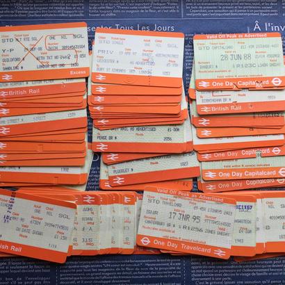 【イギリス】使用済み改札チケット British Rail(英国鉄道)100枚セット
