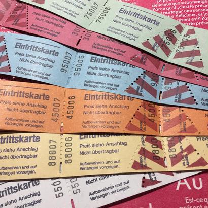 【ドイツ】Eintrittskarte入場券 6色各20片 計120片