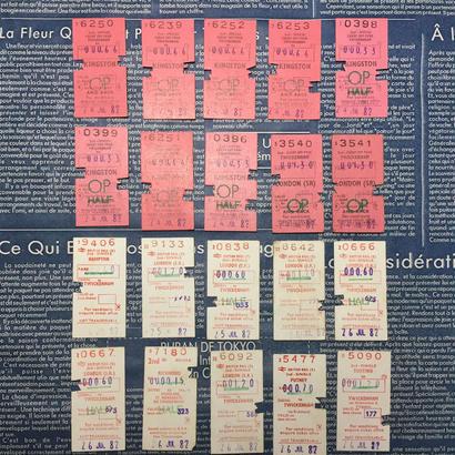 【イギリス】使用済みの鉄道チケット ホワイト&ピンク 各10枚(計20枚セット)