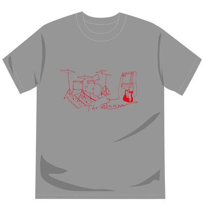 2ピースTシャツ(ヘザーグレー)