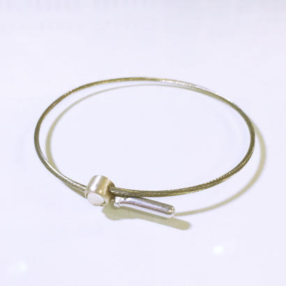 Brake cable bracelet (Crystal)