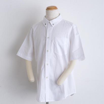 モチーフ刺繍 オックスフォード shirts(140cm,160cm)ホワイト