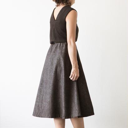 mama dress フレア(茶色)※予約商品、10/末発送※