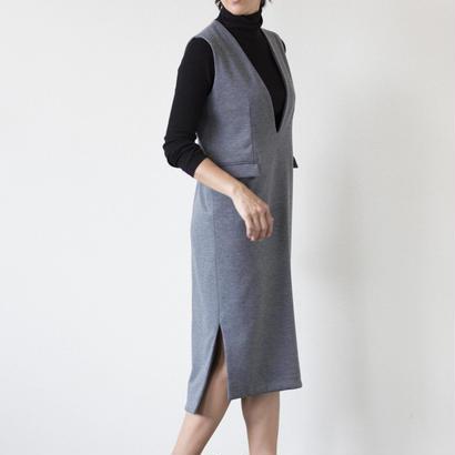 mama dress ジャンパースカート(グレー)
