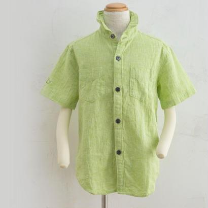 Harf sleeve shirts ライトグリーン(160cm)