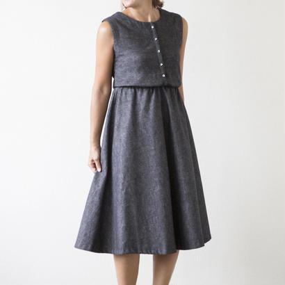 mama dress フレア(グレー)※予約商品、10/末発送※
