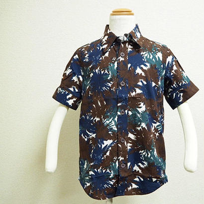 new sleeve shirts リーフ柄シャツ(140cm)