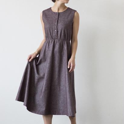 mama dress フレア(茶色)