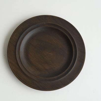 萬次郎家具 丸皿鉄媒染  b.7寸