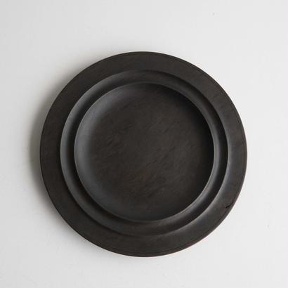 萬次郎家具 丸皿鉄媒染  c.6寸