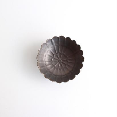 前田麻美 ブロンズ釉4寸菊鉢