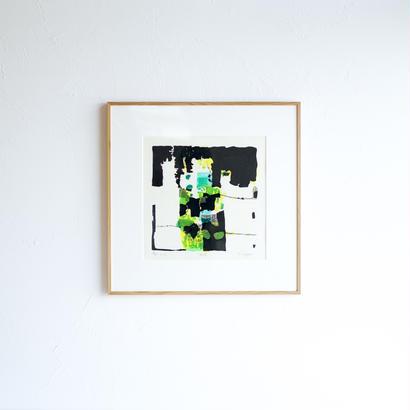 抽象版画 -緑陰-