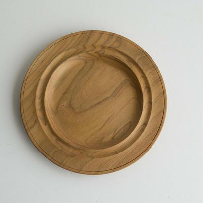 萬次郎家具 丸皿オイル仕上げ 7寸