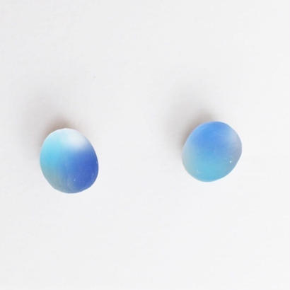 matsurica glass 【pebble】ピアス③