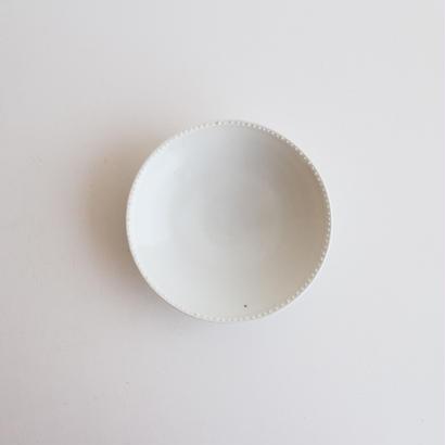 前田麻美 白磁リムドット皿