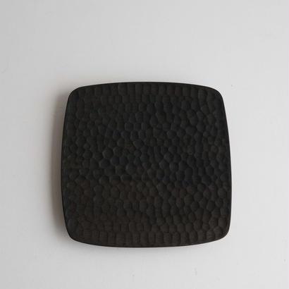萬次郎家具 四角皿鉄媒染 a.6寸