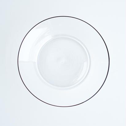 黒縁ガラス皿【L】