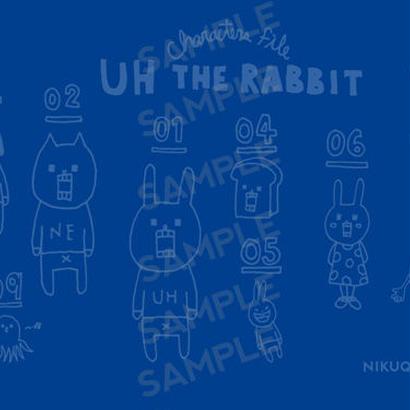 """[ud_001] DLデータ PC用壁紙 """"UH THE RABBIT"""" 【blue】"""