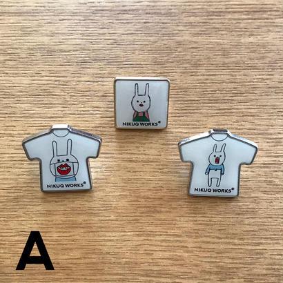 [u_015]ピンバッジ  3種セット【A】