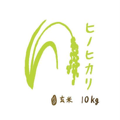 自然栽培米 ヒノヒカリ 玄米10kg 2018年度産