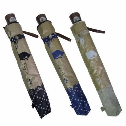 風に強い!丈夫な二段式折畳み晴雨兼用傘 [OSL101 BL/NE/BE]