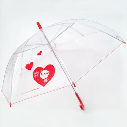 渋谷まちけんビニール傘【ハート】 57cm/長傘 [NM57C]