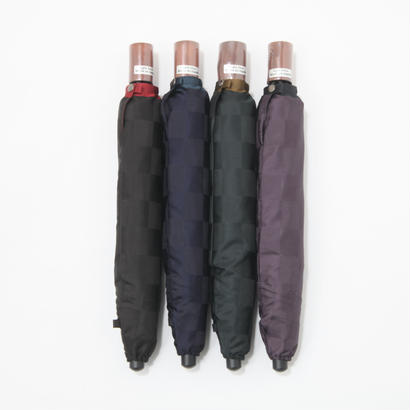 【日本製】市松模様のブロック格子柄 高級傘 60cm/二段式折りたたみ傘・ミニ傘 [A16027A/B/C/D・A15027A/B/C/D]