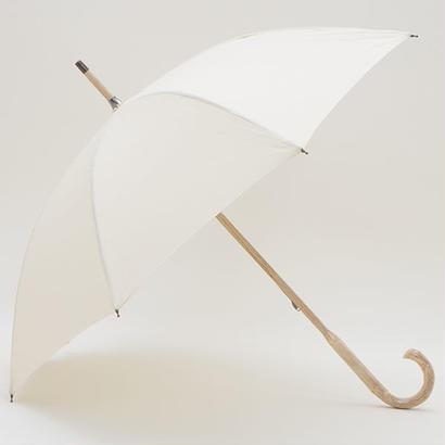【日本製】 高級 一本木風の傘 47cm/長傘 晴雨兼用 [W5026 W/Y/K/BL]