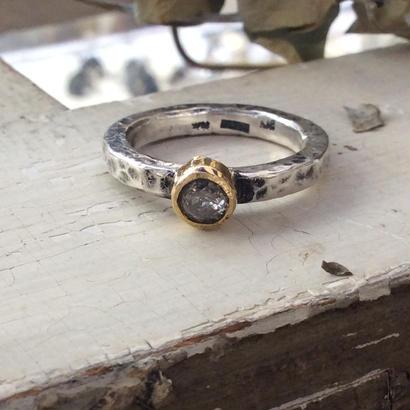 ダイアモンドリング silver  k18