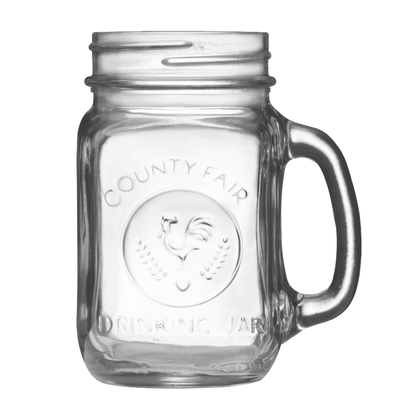 LIBBEY DRINKING JAR 16oz(with GOLD METAL LID)