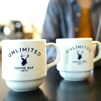 UNLIMITED COFFEE BAR ORIGINAL STUCK MUG / アンリミテッドコーヒーバー オリジナル スタックマグ