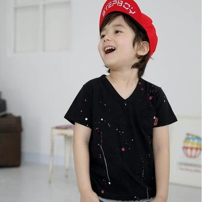 【SALE!】Vネック ペイントTシャツ 当店通常価格3590円→