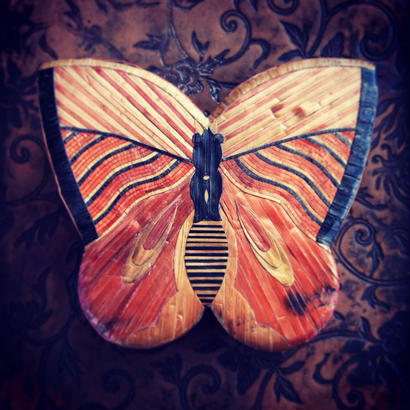 Vintage Box 麦藁細工の蝶