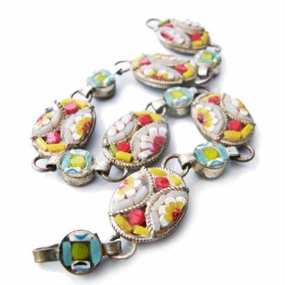 Vintage Micro-Mosaic Bracelet キャンディ・カラー