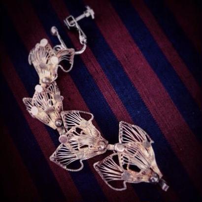 Pierce/Earring(片耳)  4連狐顏フィリグリー