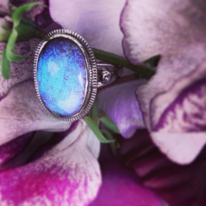 Vintage Ring モルフォ蝶の羽