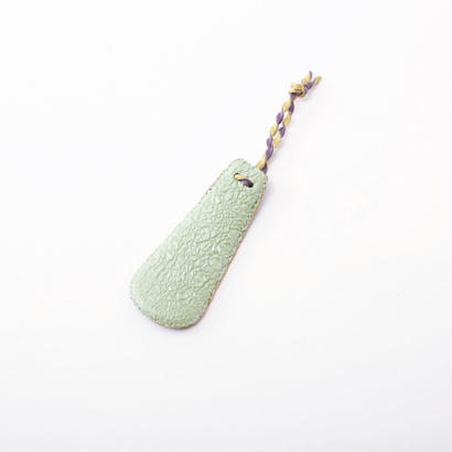 SHOE HORN mini botanicalrelief cream green×blue