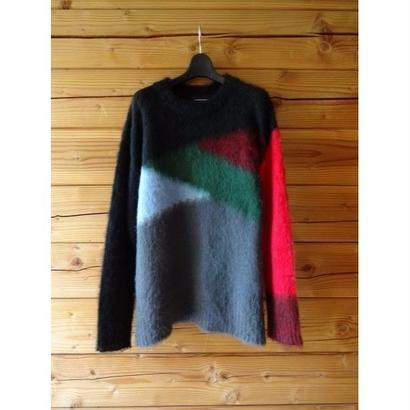 "Diet Butcher Slim Skin ""mix color mohair knit """