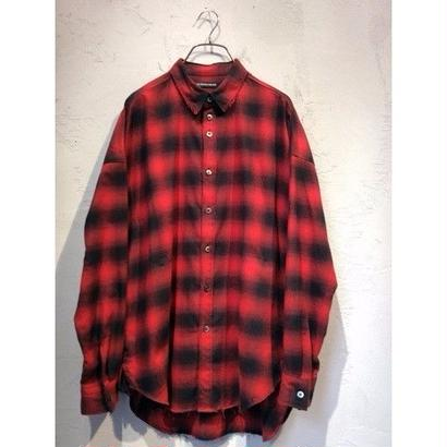 "diet butcher slim skin ""viyella check over size shirt """