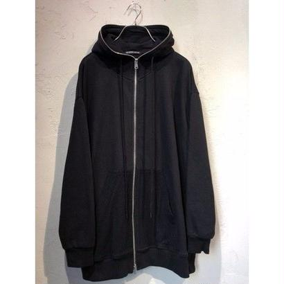 "diet butcher slim skin "" zippered loose hoodie """