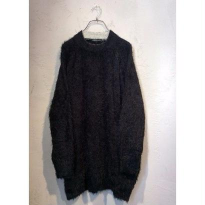 """diet butcher slim skin """"over size shaggy knit pullover """""""